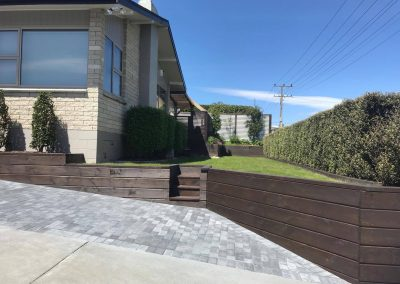 Small Retaining Wall and Paving